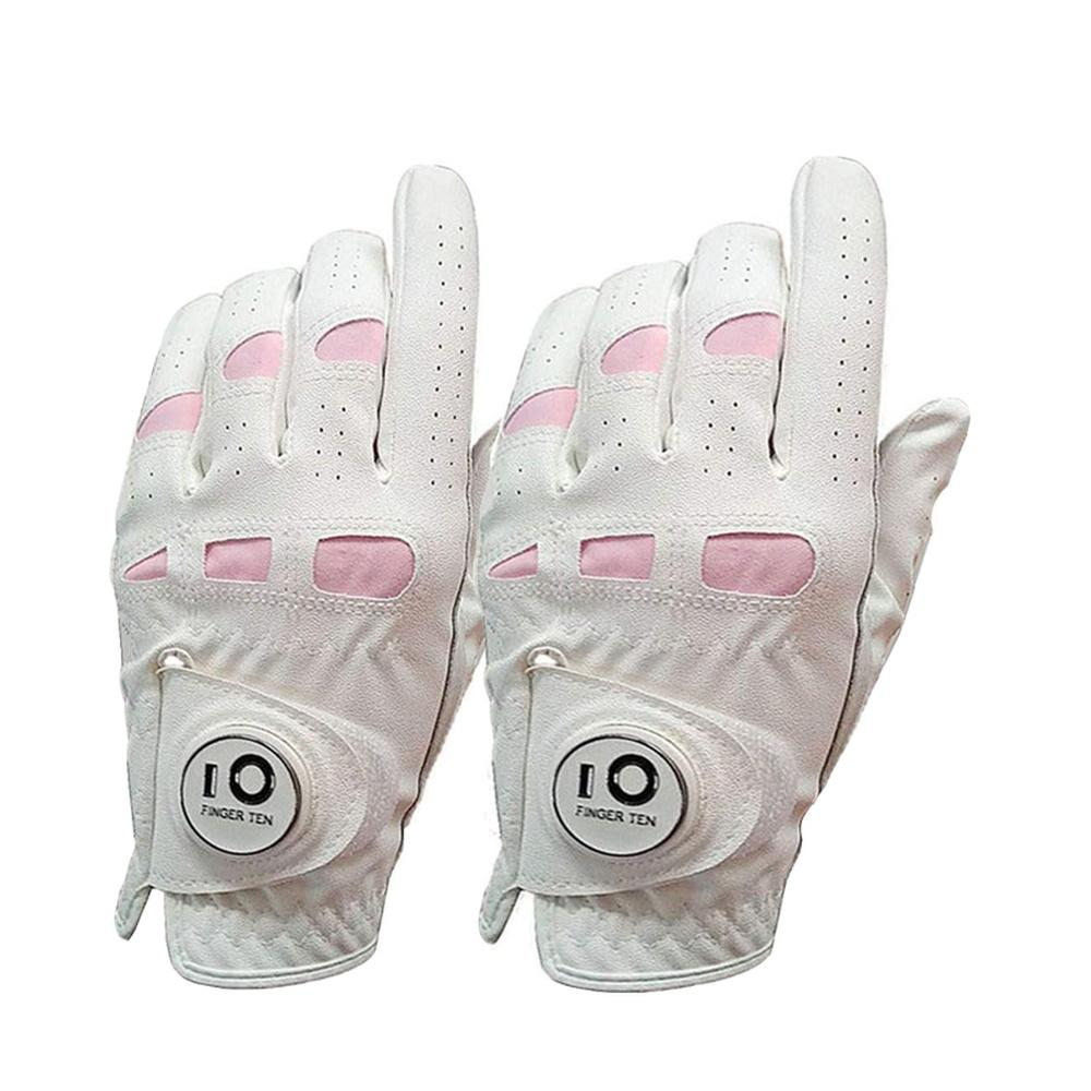 Women's FINGER TEN Leather Best Golf Glove For Sweaty Hands