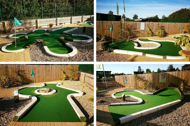 Types of mini-golf course: